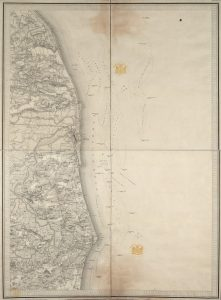 Ordnance Survey First Series map dated 1856 for Lowestoft and surrounding area